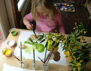 jadie painting flowers