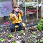 Garden Study with Picture Frames