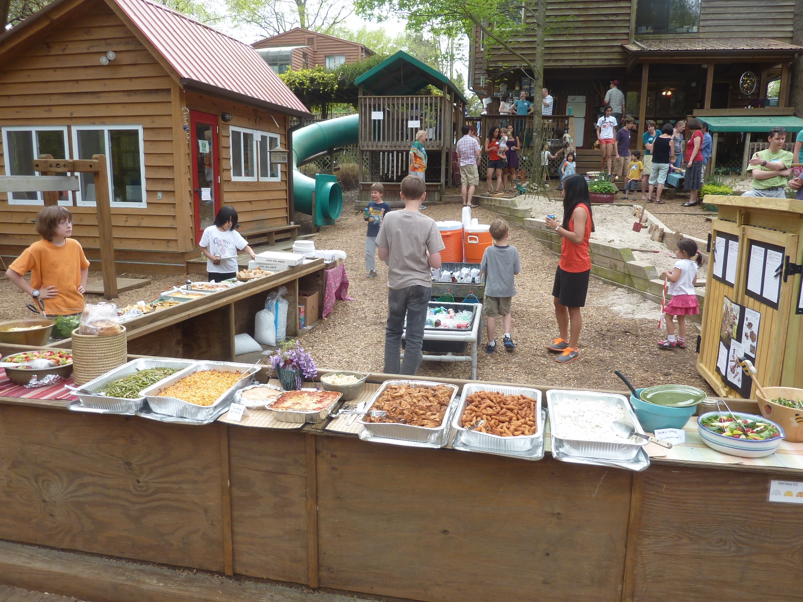 Families provided the delicious and abundant food