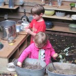 Mud Kitchen Action
