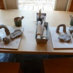 Clay Table Set for Two