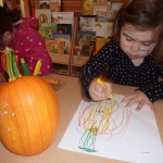Drawing Pumpkins from Life - Oil Pastel
