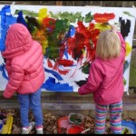 Outdoor Easel Painting Partners