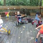 Rainy Day Bike Deck